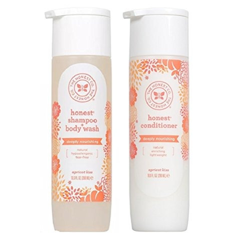 the honest company apricot kiss shampoo body wash and condit