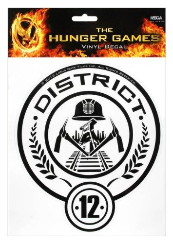 the hunger games movie \ distrito 12\  laptop decals
