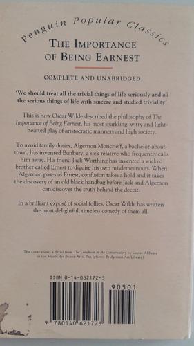 the importance of being earnest, oscar wilde