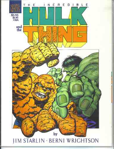 the incredible hulk and the thing: big change  año 1987