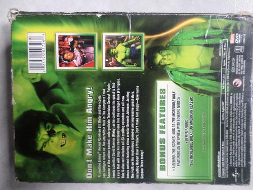 the incredible hulk-season 3 de 1982 en 5 dvd´s importacion