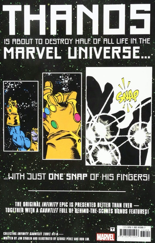 the infinity gauntlet deluxe ed. - marvel comics robot negro