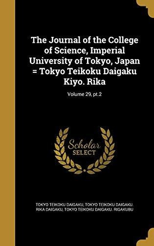 the journal of the college of science, imperial university