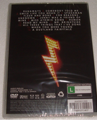 the killers live in london dvd sellado