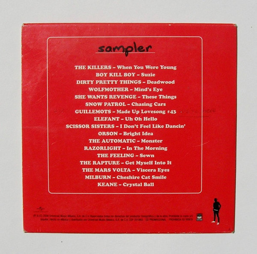the killers mars volta the rapture cd sampler mexicano 2006