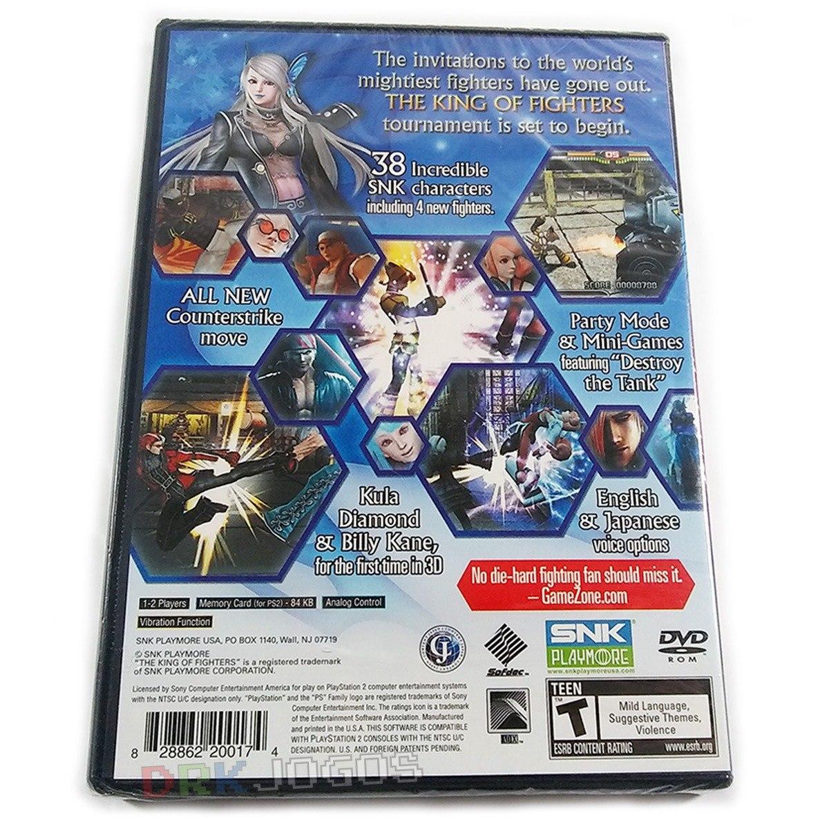 The King Of Fighters 2000 2001 2006 Originais Novos Ps2 R 359 00 Em Mercado Livre