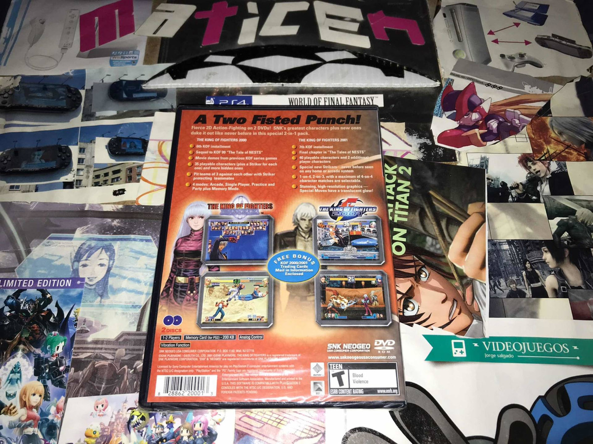 The King Of Fighters 2000 2001 Ps2 Venta O Cambio 999 00 En Mercado Libre
