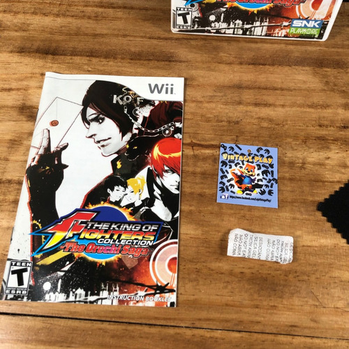 the king of fighters collection 100% original p/ wii!! raro