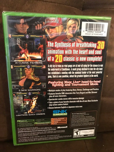 the king of fighters maximum impact maniax (nuevo) xbox