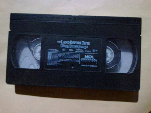 the land before time videocasette infantil antiguo