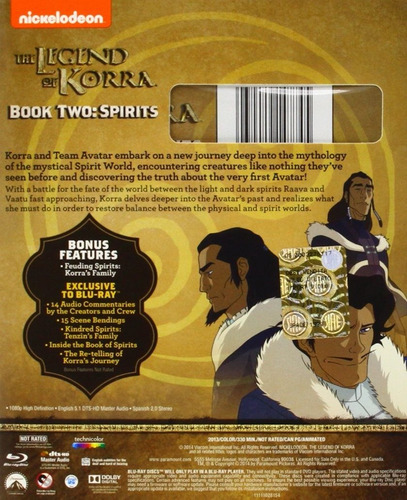 the legend of korra book two spirits serie tv blu-ray