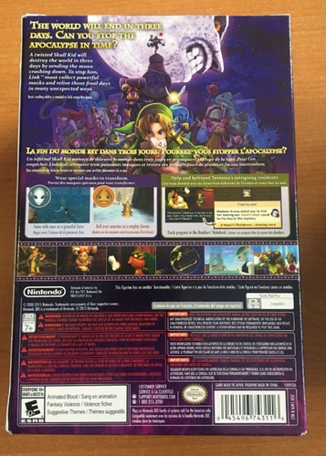 the legend of zelda: majora's mask 3d-juego y figura