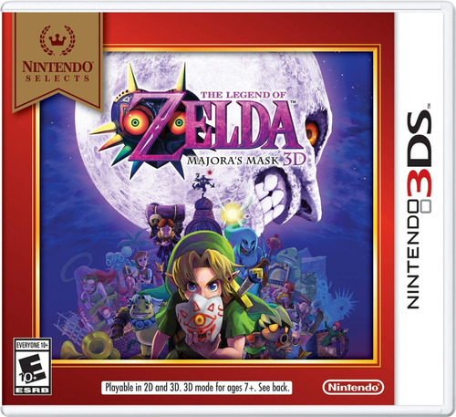 the legend of zelda: majora's mask nintendo selects 3ds 2ds