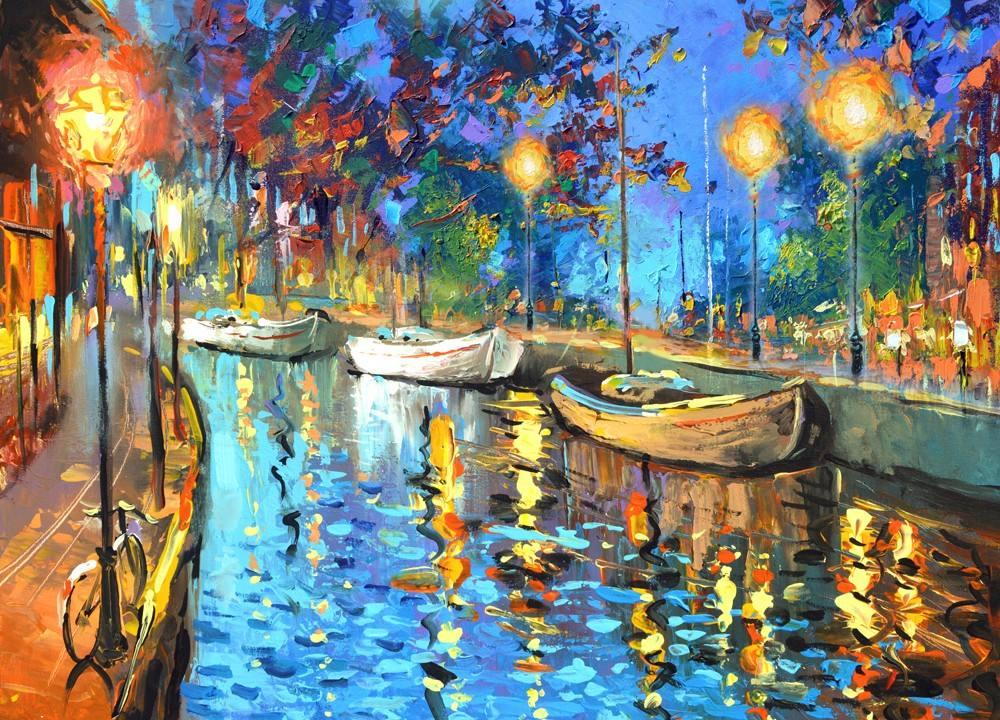 The lights cuadros pinturas al oleo de dmitry spiros for Pinturas acrilicas para cuadros