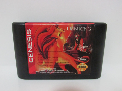 the lion king - game mega drive original e completo