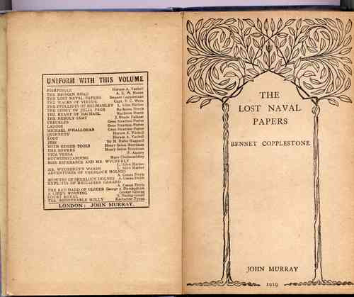 the lost naval papers by bennet copllestone 2° edición 1919