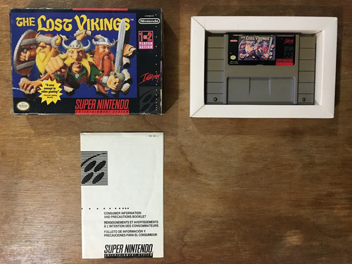 the lost vikings con caja para super nintendo / snes