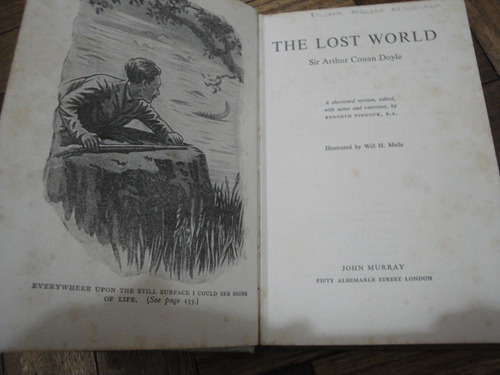 the lost world by sir conan doyle. illustrated.