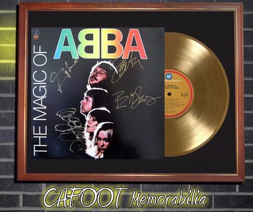 the magic of abba tapa lp firmada disco oro enmarcado
