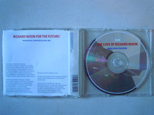 the maniac street preachers cd sigl the love of richard nixo