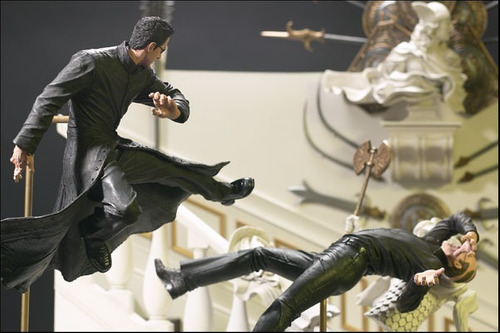 the matrix reloaded neo chateau scene action figure