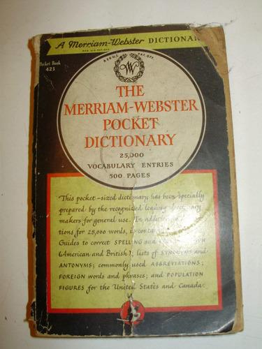the merriam-webster pocket dictionary 13a. edicion 1949