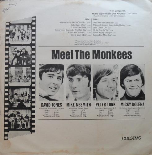 the monkees - colgems lp rca victor 1966 - raro