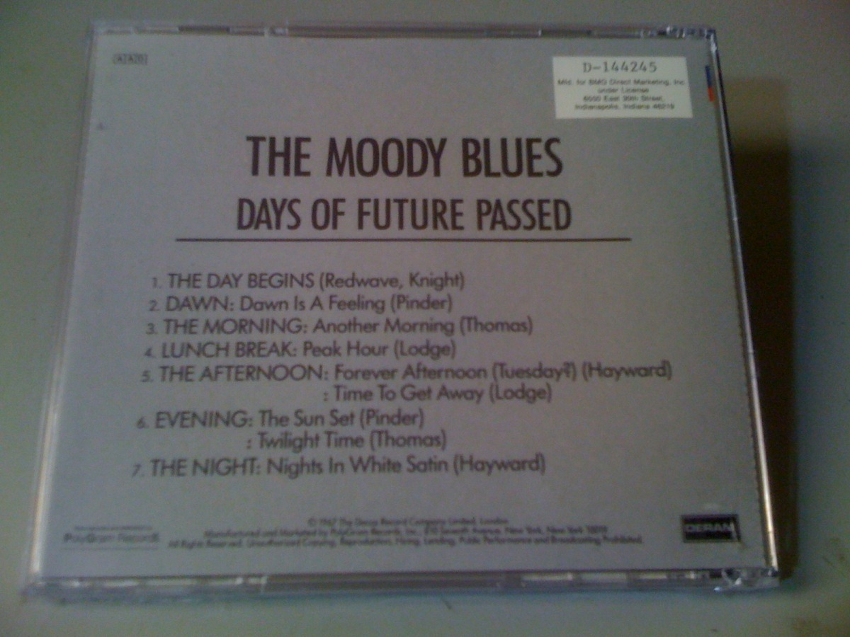 The Moody Blues Days Of Future Passed Cd Lacrado Usa: Import