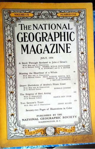 the national geographic vol. cx n°1 jul 1956 - 139p buen est