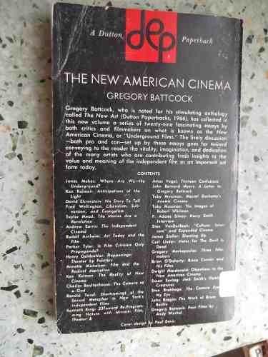 the new american cinema gregory battcock ingles ilustrado