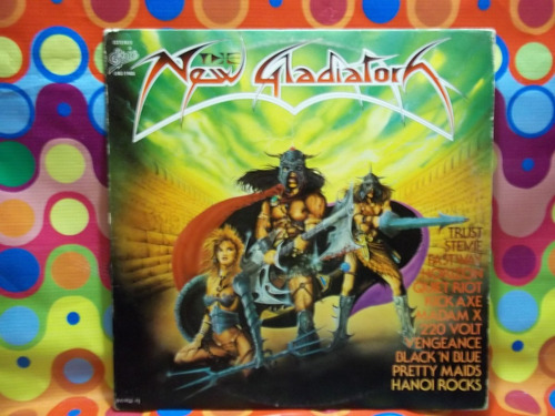 the new gladiators lp quiet riot,horizon,1984,inser,vinil.