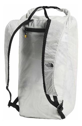 the north face flyweight rolltop, tin grey/tnf black, os