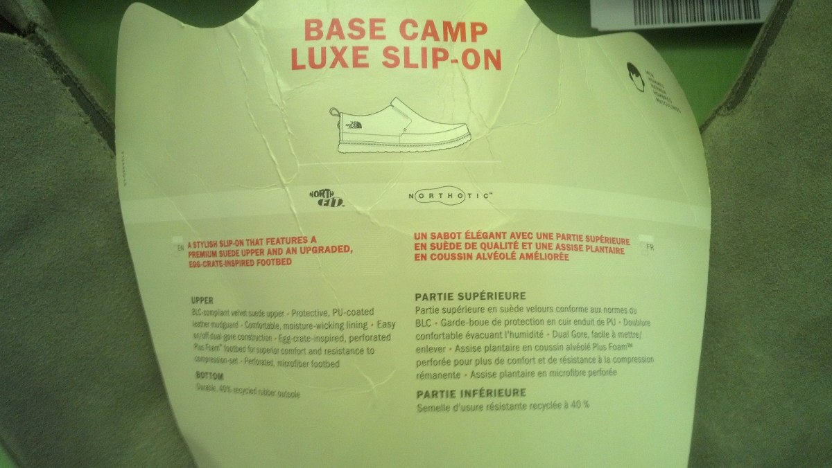 Base 45 On M Zapatos Face Luxe Talla Camp Slip The North wAvqZt