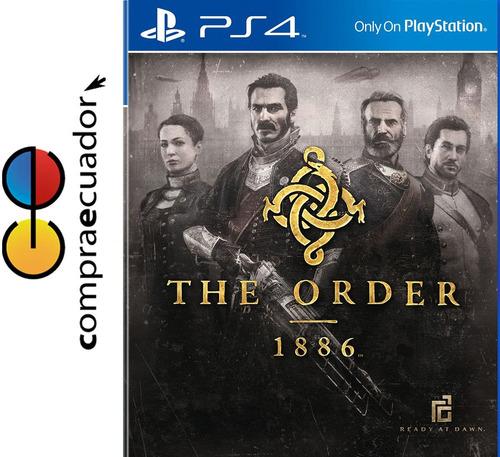 the order 1886 ps4 disco físico original sellado nuevo ps4