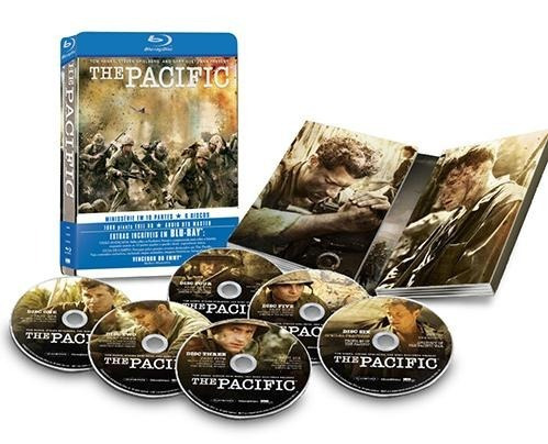 the pacific - box com 6 blu-rays - lata de colecionador