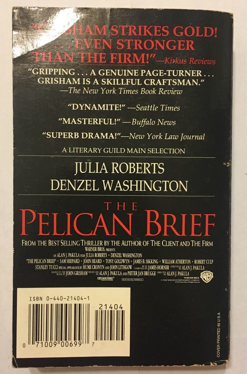 The Pelican Brief Dossiê Pelicano John Grisham