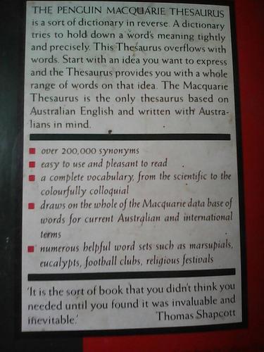 the penguin macquarie thesaurus (dicc. de sinónimos, inglés)