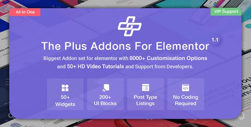 the plus addons for elementor page builder 1.2.0