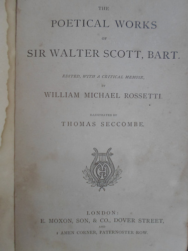 the poetical works of sir walter scott, bart illustrated