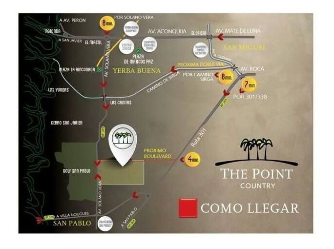 the point country club - terrenos internos primera etapa