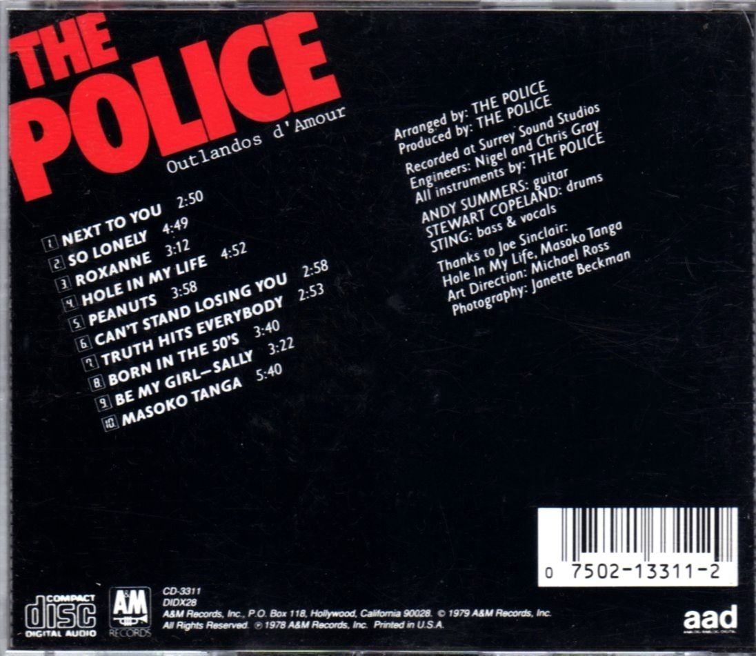 The Police Outlandos Damour Cd Import De Usa Excel Esta 78500