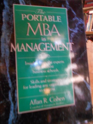the portable mba in management. allan r. cohen