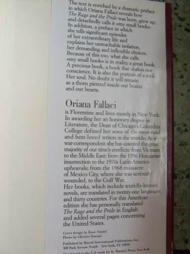 the rage and the pride oriana fallaci en ingles 11 septiembr