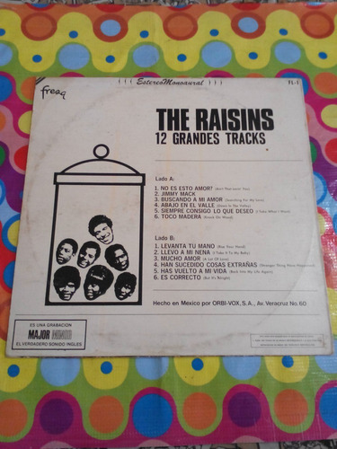 the raisins lp 12 grandes tracks