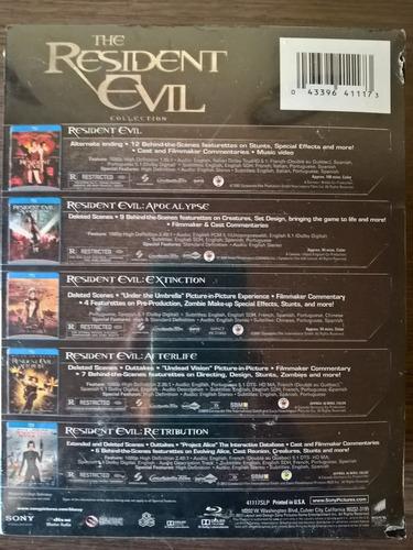 the resident evil coleccion boxset 5 bluray sellados español