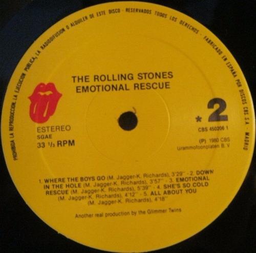 the rolling stones emotional rescue vinilo rock importado