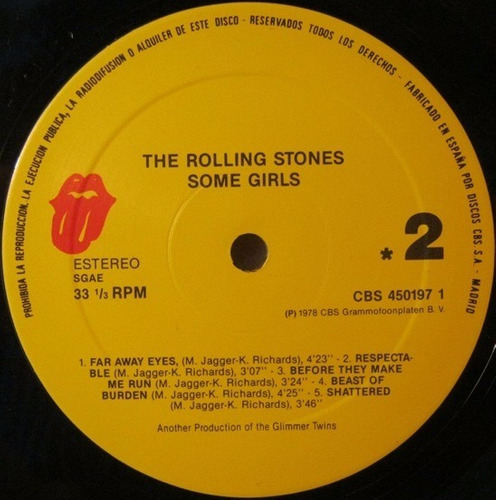 the rolling stones some girls vinilo importado cbs-450197 1
