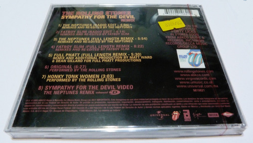 the rolling stones sympathy for the devil remix  cd