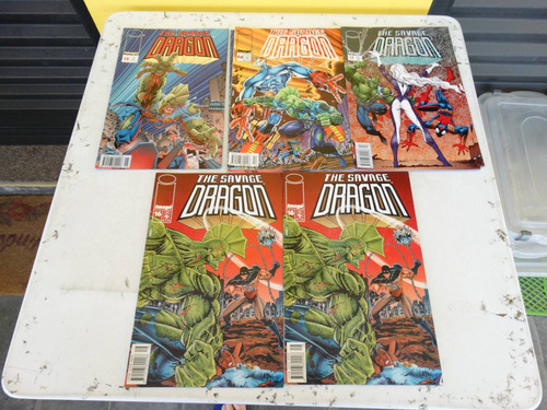 the savage dragon! várias! edit abril! 1996! r$ 10,00 cada!