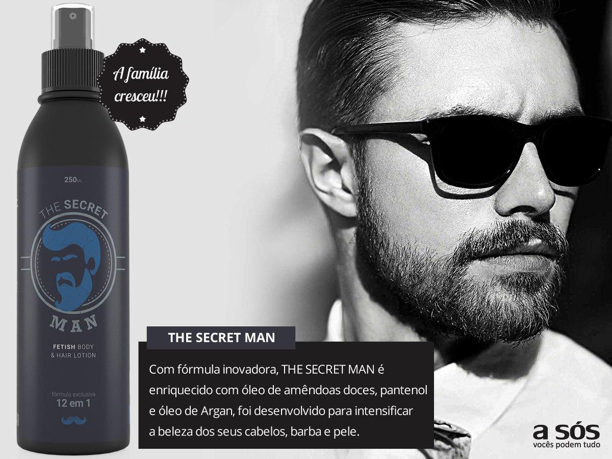 The Secret Man 12 Em 1 Cabelo Barba E Pele R 4990 Em